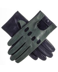 Black.co.uk - Blue Racing Green And Navy Italian Leather Driving Gloves - Lyst