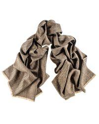 Black.co.uk - Brown Country Herringbone Silk And Merino Wool Scarf - Lyst