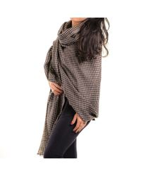 Black.co.uk - Multicolor Houndstooth Cashmere Shawl - Lyst
