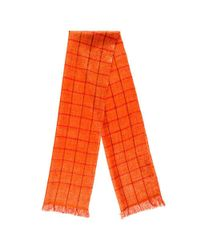 Black.co.uk - Flame Orange Check Superfine Cashmere Cravat Scarf Set - Lyst