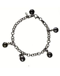 Black.co.uk | Dido Tahitian Black Pearl Charm Bracelet | Lyst