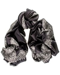 Black.co.uk - Multicolor Hand Embroidered Paisley Cashmere Ring Shawl - Lyst
