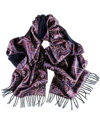 Black.co.uk - Multicolor Omodeo Cashmere And Silk Satin Double Faced Scarf - Lyst