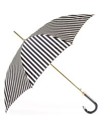Black.co.uk - Black And White Striped Italian Luxury Umbrella - Lyst