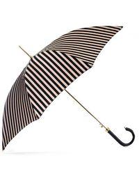 Black.co.uk | Black And Latte Stripe Luxury Umbrella | Lyst