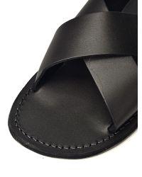 Jerusalem Sandals Black Elan for men