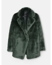 D.Efect - Green Duana Faux Fur Coat - Lyst