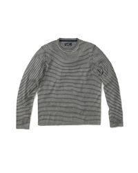 Grayers - Gray Cotton Linen Crew for Men - Lyst