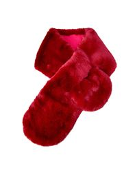 Barbour - Red Fur Wrap - Lyst