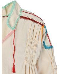 Carolina K Multicolor Oaxacan Crochet Blouse