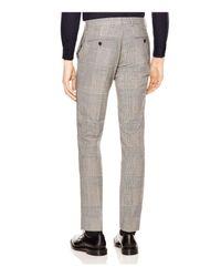 Sandro - Gray Peak Glen Check Slim Fit Trousers for Men - Lyst