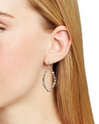 Dana Kellin - Metallic Open Oval Drop Earrings - Lyst