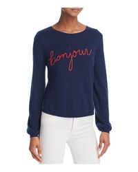 Joie - Blue Jenris Bonjour Stitched Sweater - Lyst