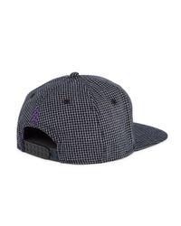 Gents - Black Check Chairman Hat for Men - Lyst