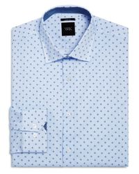 W.r.k. - Blue Micro Dot And Open Square Slim Fit Dress Shirt for Men - Lyst