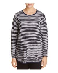Eileen Fisher - Blue Ribbed Stripe Top - Lyst