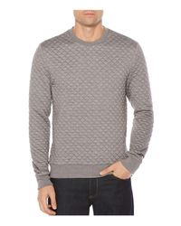 Original Penguin | Gray Quilted Sweatshirt for Men | Lyst