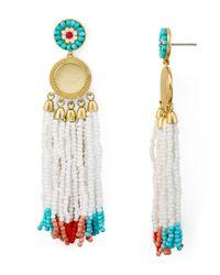 Rebecca Minkoff - Multicolor Luna Statement Beaded Fringe Drop Earrings - Lyst