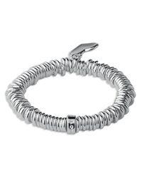 Links of London - Metallic Sweetie Sterling Silver Heart-charm Stretch Bracelet - Lyst