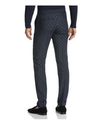 The Kooples - Black Retro Floral Print Slim Fit Trousers for Men - Lyst