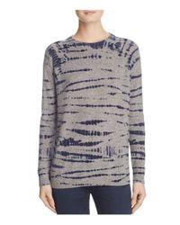 Aqua   Blue Cashmere Tie-dye Crewneck Sweater   Lyst