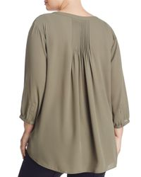 NYDJ - Green Pintuck-back Blouse - Lyst