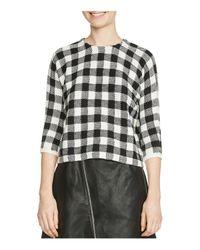 Maje | Black Max Gingham Sweater | Lyst