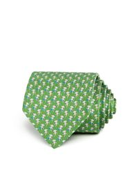Ferragamo - Green Hula Hoop Monkeys Classic Tie for Men - Lyst