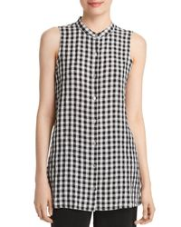 Eileen Fisher - Black Sleeveless Organic-cotton Tunic - Lyst