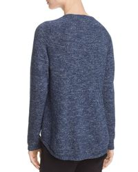 Eileen Fisher - Blue Marled Sweater - Lyst