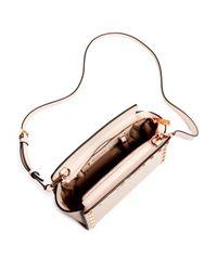 MICHAEL Michael Kors - Pink Selma Studded Embossed Leather Medium Crossbody - Lyst