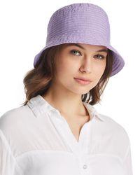 Aqua - Purple Ribbon Bucket Hat - Lyst