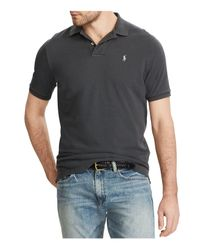 Polo Ralph Lauren - Gray Custom Slim Fit Weathered Mesh Polo Shirt for Men - Lyst