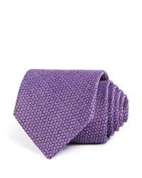 Bloomingdale's - Purple Textured Silk Classic Tie for Men - Lyst