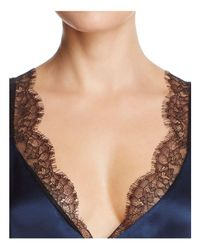 Cami NYC - Blue Josie Lace-inset Silk Top - Lyst