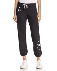 Monrow - Black Embroidered Star Vintage Sweatpants - Lyst