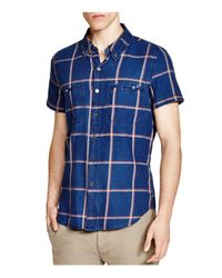 Blank NYC - Blue Indigo Plaid Regular Fit Button-down Shirt for Men - Lyst