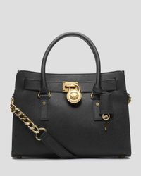 MICHAEL Michael Kors | Black Hamilton East West Satchel | Lyst