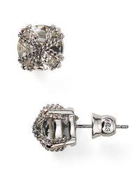 ABS By Allen Schwartz | Metallic Chain Wrapped Stud Earrings | Lyst