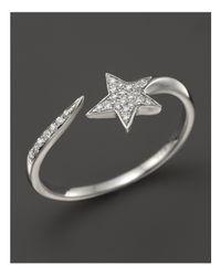 KC Designs - Metallic Diamond Star Band In 14k White Gold - Lyst