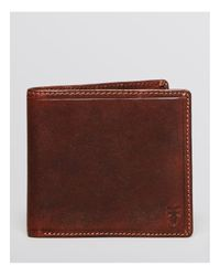 Frye | Brown Logan Bi-fold Wallet for Men | Lyst
