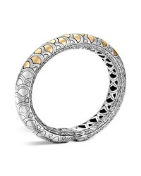John Hardy | Metallic Sterling Silver And 18k Bonded Gold Naga Slim Flex Cuff | Lyst