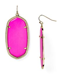 Kendra Scott | Pink Danielle Earrings | Lyst