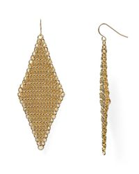 ABS By Allen Schwartz - Metallic Call Of The Wild Mesh Earrings - Lyst