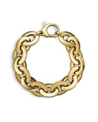 Roberto Coin | Metallic 18k Yellow Gold Flat Oval Link Bracelet | Lyst