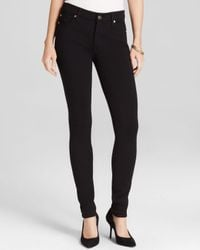 7 For All Mankind | Jeans - Double Knit High Waist Skinny In Black | Lyst