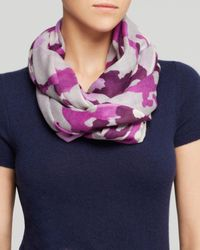 Aqua - Purple Camouflage Scarf - Lyst