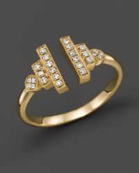 Dana Rebecca - Pink 14k Yellow Gold And Diamond Combo Ring, .15 Ct. T.w. - Lyst
