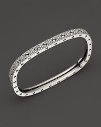 Roberto Coin | 18k White Gold And Diamond Pois Moi Single Bangle, 1.35 Ct. T.w. | Lyst