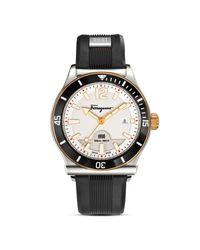 Ferragamo | Black 1898 Sport Stainless Steel Watch, 43mm for Men | Lyst